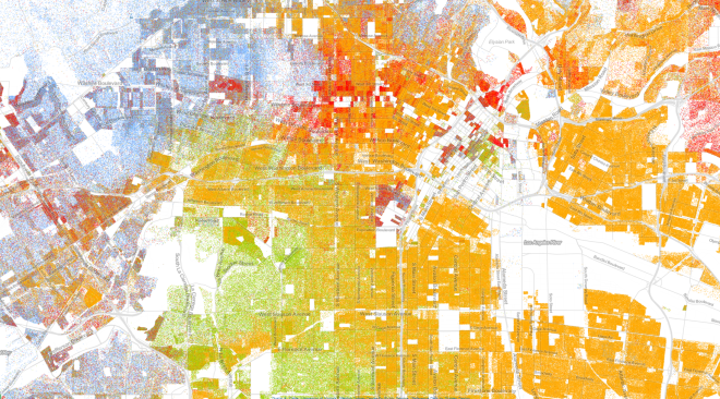 racial map of LA